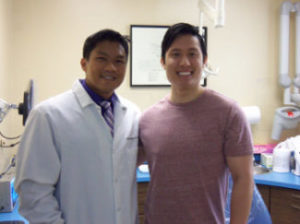 Dr. Philip Jay Magpantay and his latest very satisfied Invisaline patient