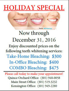 teeth whitening special /